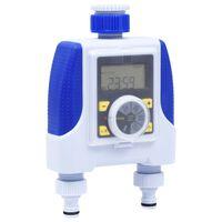 vidaXL Електронен таймер с двоен извод и функция за забавяне на дъжда