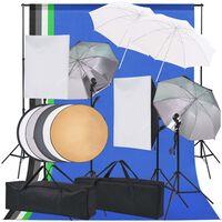 vidaXL Комплект студийно осветление за фотоателие