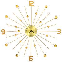 vidaXL Стенен часовник, метал, 70 см, златист