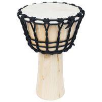 vidaXL Джембе барабан с 25 см обтягащи въжета, козя кожа