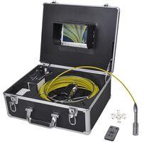 vidaXL Камера за инспектиране на тръби, 30 м, с DVR контролна кутия