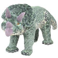 vidaXL Плюшен детски динозавър трицератопс за яздене, зелен, XXL