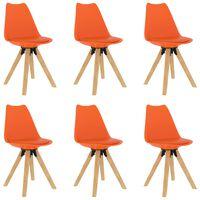 vidaXL Трапезни столове, 6 бр, оранжеви