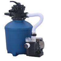 vidaXL Пясъчна филтърна помпа с таймер, 530 W, 10980 л/ч