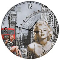 vidaXL Винтидж стенен часовник Мерилин Монро, 60 см