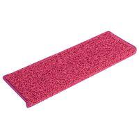 vidaXL Постелки за стъпала, 15 бр, 65x25 см, розови