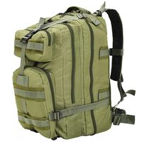 vidaXL Раница, войнишки стил, 50 л, маслинено зелена