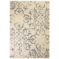 vidaXL Модерен килим, флорален дизайн, 160x230 см, бежово/синьо
