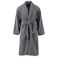 vidaXL Хавлиен халат за баня унисекс 100% памук антрацит размер XXL