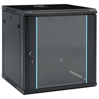 """vidaXL 12U Сървърен шкаф за стенен монтаж, 19"""", IP20, 600x600x640 мм"""