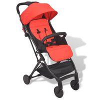 vidaXL Детска сгъваема количка Pocket Buggy, червена, 89x47,5x104 cм