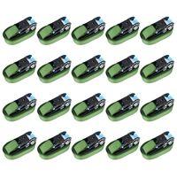 vidaXL Укрепващи колани с тресчотки, 20 бр, 800 daN, 6 м, зелени