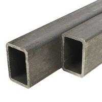 vidaXL Кухи пръти конструкционна стомана 2 бр правоъгълни 1м 60x40x3мм