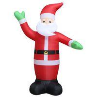 vidaXL Надуваем Дядо Коледа, LED, IP44, 600 см, XXL