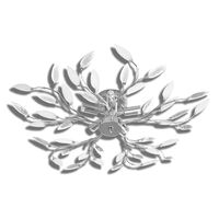 Стилен полилей с декорация от акрилни листа, цвят: прозрачен & бял