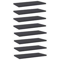 vidaXL Рафтове за етажерка, 8 бр, сиви, 40x20x1,5 см, ПДЧ