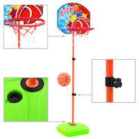 vidaXL Детски комплект баскетболен кош и топка