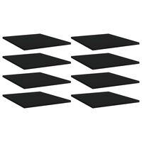vidaXL Рафтове за етажерка, 8 бр, черни, 40x50x1,5 см, ПДЧ