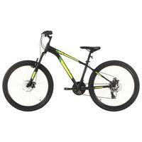 vidaXL Планински велосипед, 21 скорости, 27,5 цола, 38 см, черен