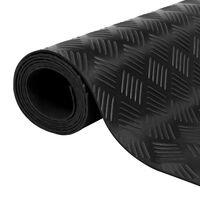Гумена нехлъзгаща се настилка за под 5х1 м, напречни линии