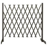vidaXL Градинска оградна решетка, сива, 180x100 см, чам масив