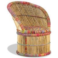 vidaXL Бамбуков стол с Chindi детайли