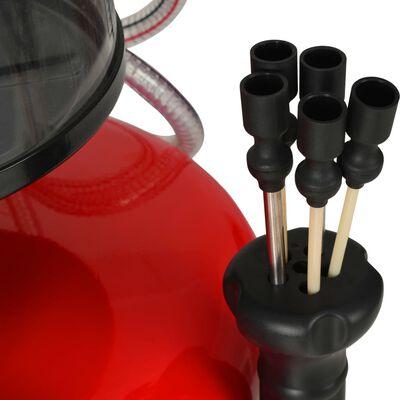 vidaXL Колектор за отработени масла, 70 л, стомана, червен