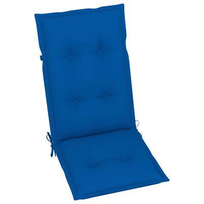 vidaXL Градински накланящи се столове 3 бр с възглавници акация масив