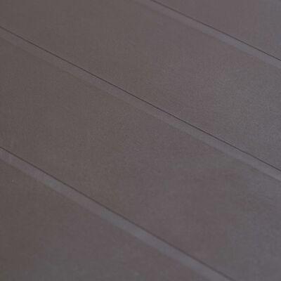 vidaXL Градинска маса, 220x90x72 см, пластмаса, ратанов вид, кафява