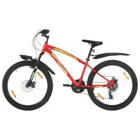 vidaXL Планински велосипед, 21 скорости, 26 цола, 36 см, червен