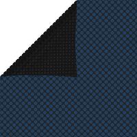 vidaXL Плаващо соларно покривало за басейн PE 1200x600 см черно-синьо