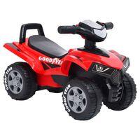 vidaXL Детска количка за бутане Good Year, червена