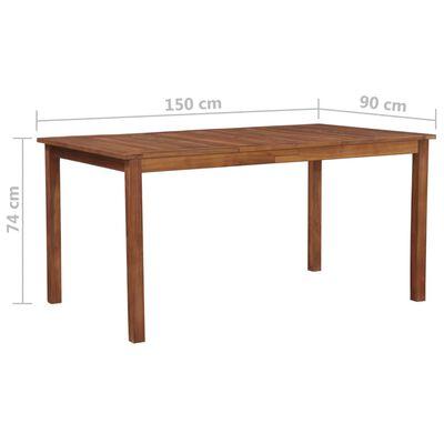 vidaXL Градинска маса, 150x90x74 см, акация масив
