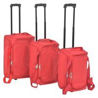 vidaXL Комплект куфари от 3 части, червен