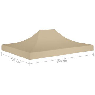 vidaXL Покривало за парти шатра, 4x3 м, бежово, 270 г/м²