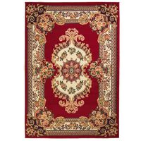 vidaXL Ориенталски килим, 160x230 см, червено/бежово