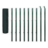 vidaXL Евромрежа, стомана, 10x1,7 м, зелена