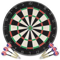 vidaXL Професионална мишена за дартс от сизал с 6 стрелички