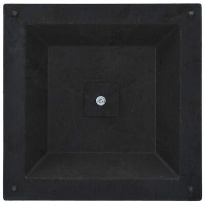 vidaXL Основа за чадър, квадратна, полирезин, 12 кг, бронз