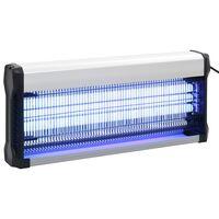 vidaXL Инсектицидна лампа, черна, алуминий, ABS, 60 W