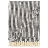 vidaXL Декоративно одеяло, памук, 125x150 см, тъмносиньо