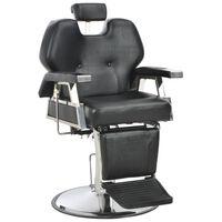 vidaXL Фризьорски стол, черен, 72x68x98 см, изкуствена кожа