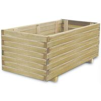 vidaXL Повдигната леха, 100x50x40 см, дървена, правоъгълна
