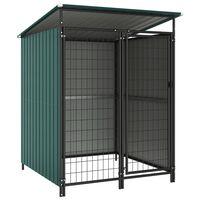 vidaXL Дворна клетка за кучета, 133x133x163 см