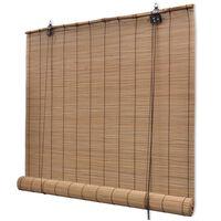 vidaXL Бамбукова ролетна щора, 150x160 см, кафява