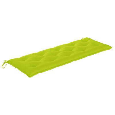 vidaXL Възглавница за градинска пейка, светлозелена, 150x50x7 см, плат