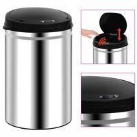 vidaXL Кош за отпадъци с автоматичен сензор, 30 л, неръждаема стомана