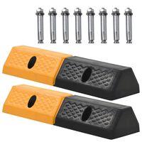 vidaXL Гумени ограничители за паркинги, 2 бр, 49x15x9 см