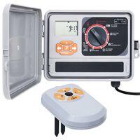 vidaXL Градински програматор за поливане със сензор за влага