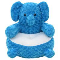 vidaXL Плюшена играчка слон, плюш, синя